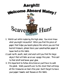 Back to School Pirate Scavenger Hunt