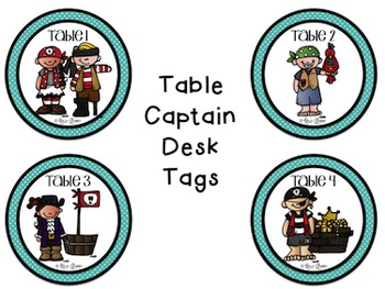 Back to School:  Pirates & Polka Dots Number Cards, Name Plates, Station Signs
