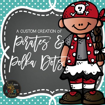 Back to School:  Pirates & Polka Dots Number Cards, Name P