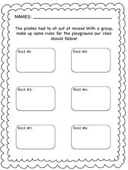 Back to School, Pirates go to School, Literacy Activities