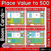Back to School Place Value Boom Card Bundle - To 30, 50, 1