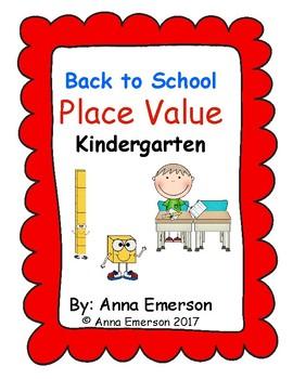 Back to School Place Value: Kindergarten