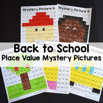 Back to School Place Value Color By Number Mystery Pictures