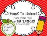 Back to School Place Value Pack