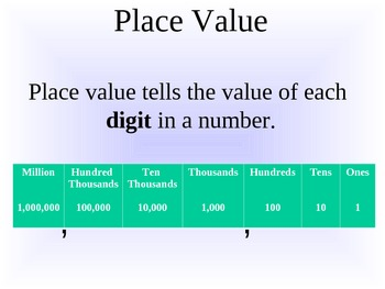 Back to School Place Value Review - Round 1