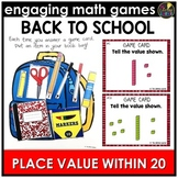 Back to School Place Value Within 20