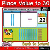 Back to School Place Value to 30 Boom Cards - Digital Dist