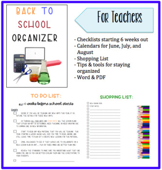 Back to School Planner/Organizer by Stephanie Wolters | TpT
