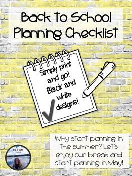 Back to School Planning Checklist