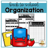 Back to School Planning and Organization Package