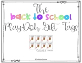 Back to School Play Doh Gift Tag