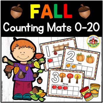 Fall Play Dough Counting Mats 0-10