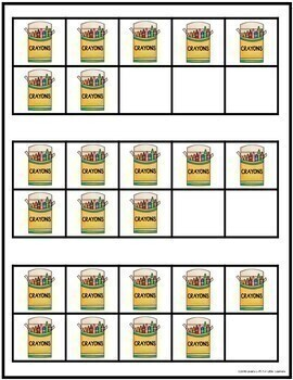Beginning of School  Play Dough Counting Mats and Frames