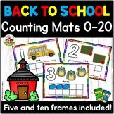 Beginning of School  Play Dough Counting Mats 0-20