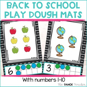 Back to School Play Dough Mats