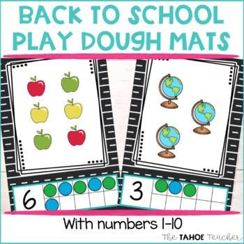 Back to School Play Dough Mats