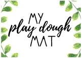 Back to School Play Dough Activity (Burlap Chalkboard/Blac