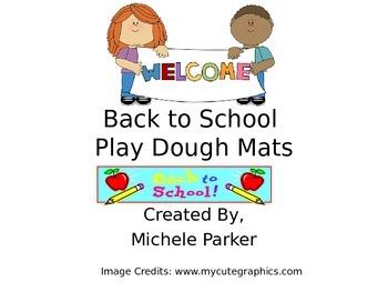 Back to School Play Dough/Play-Doh/Playdough Mats