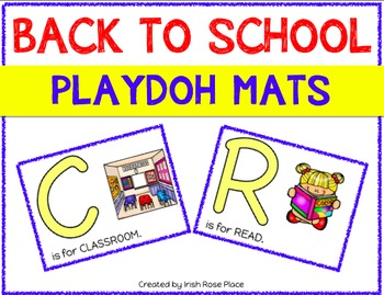 Back to School Playdoh Mats