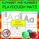 ALPHABET and NUMBERS PLAYDOUGH MATS