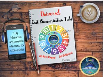Back to School - Exit  / Summarization Tasks - Plenary Generator.