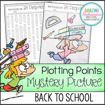 Back to School Plotting Points - Mystery Picture