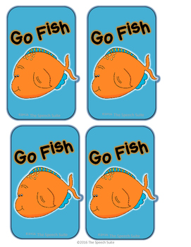 Plurals Back to School Go Fish Game