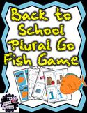 Plurals Back to School Go Fish Game