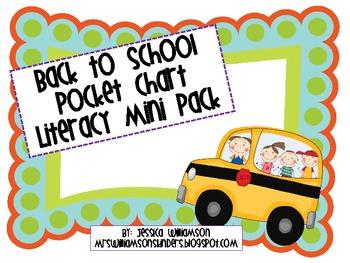 Back to School Pocket Chart Literacy Mini Pack