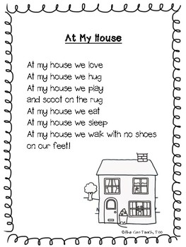 Back to School Poem- At My House