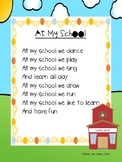 "Back to School Poem- ""At My School"""