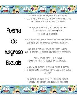 Back to School Poem (Bilingual!)