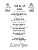 Back to School Poem: First Day of School