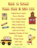 Back to School Poem Pack/Mini Unit