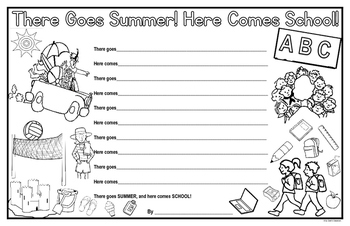 Back to School Poem - There Goes Summer! Here Comes School! Poem Template