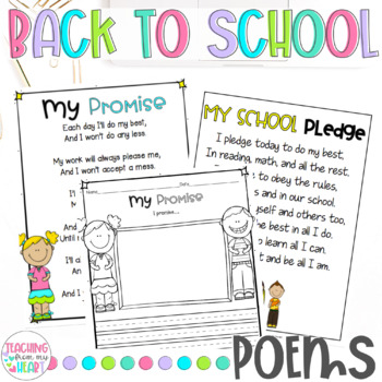 Back To School Poems Beginning Of The Year Poems First