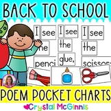 Back to School Poems for Shared Reading (Pocket Chart Version)
