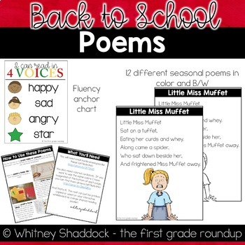 Back to School Poems of the Week for Shared Reading