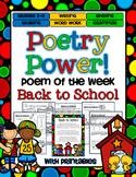 Poem of the Week: Back to School Poetry Power!