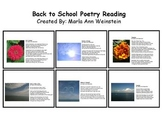 Back to School Poetry Reading