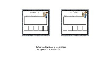 Back to School - Behaviour Points Cards
