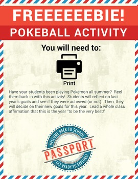 Back to School Pokemon Activity FREE
