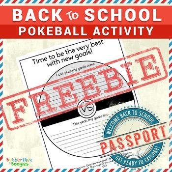 Back to School Pokemon Activity FREE