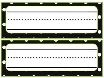 Back to School - Polka Dot Name/Desk Plates  FREE
