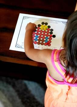 Back to School Pom Pom Fine Motor Activity Mats