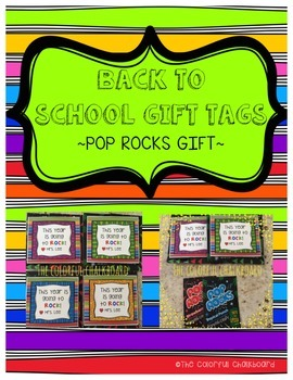 Back to School Pop Rock Gift Tags