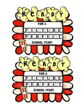 Back to School Popcorn Labels