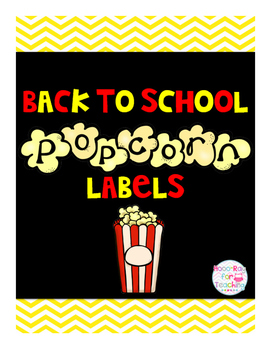 Back to School Popcorn Labels