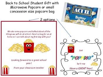 Back to School Popcorn Student gift