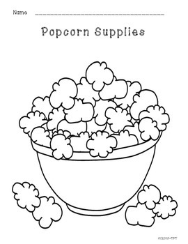 "Back to School - ""Popcorn Supplies"""